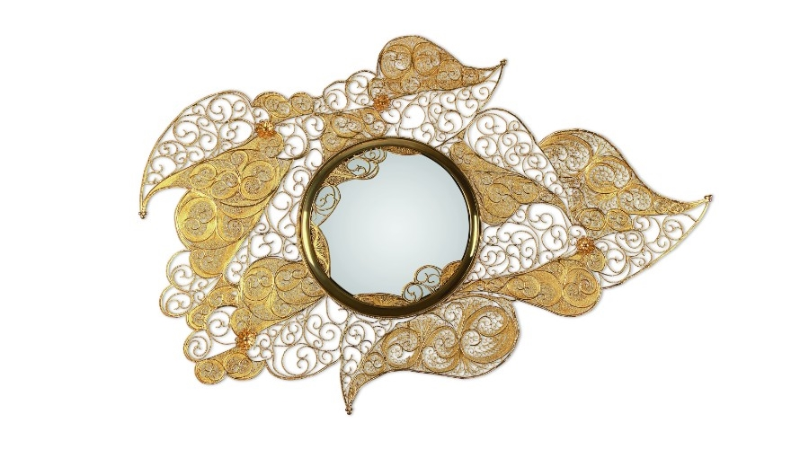 Filigree and Azulejos Heritage at Homo Faber Filigree Mirror by Boca do Lobo 3 1