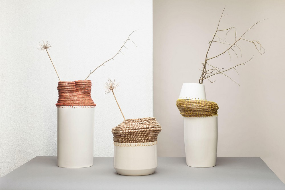 european craftsmanship The Best of European Craftsmanship at Homo Faber The Best of European Craftsmanship at Homo Faber Euneida Tavares Ceramic vase with woven basket Caruma Vicara Design