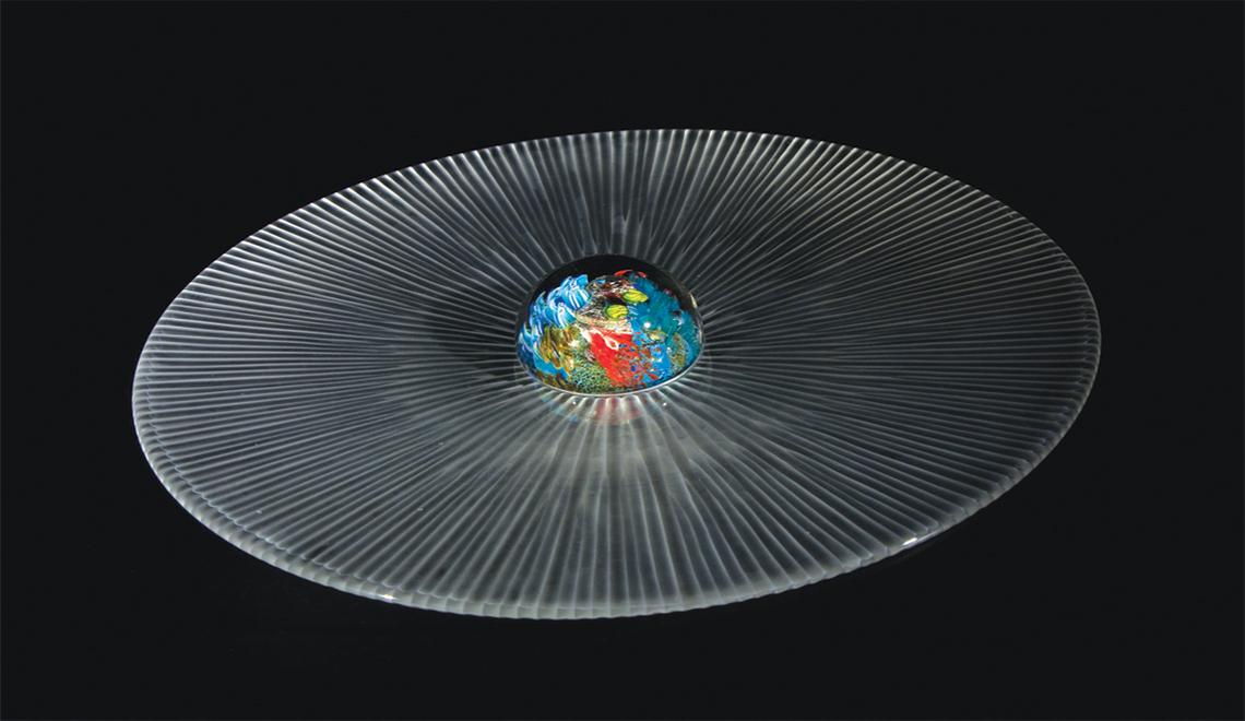 glass sculpture The Best of Glass Sculpture and Fusing Art: Gabriele Küstner Gabriele K  stner SimpsonSaturnView