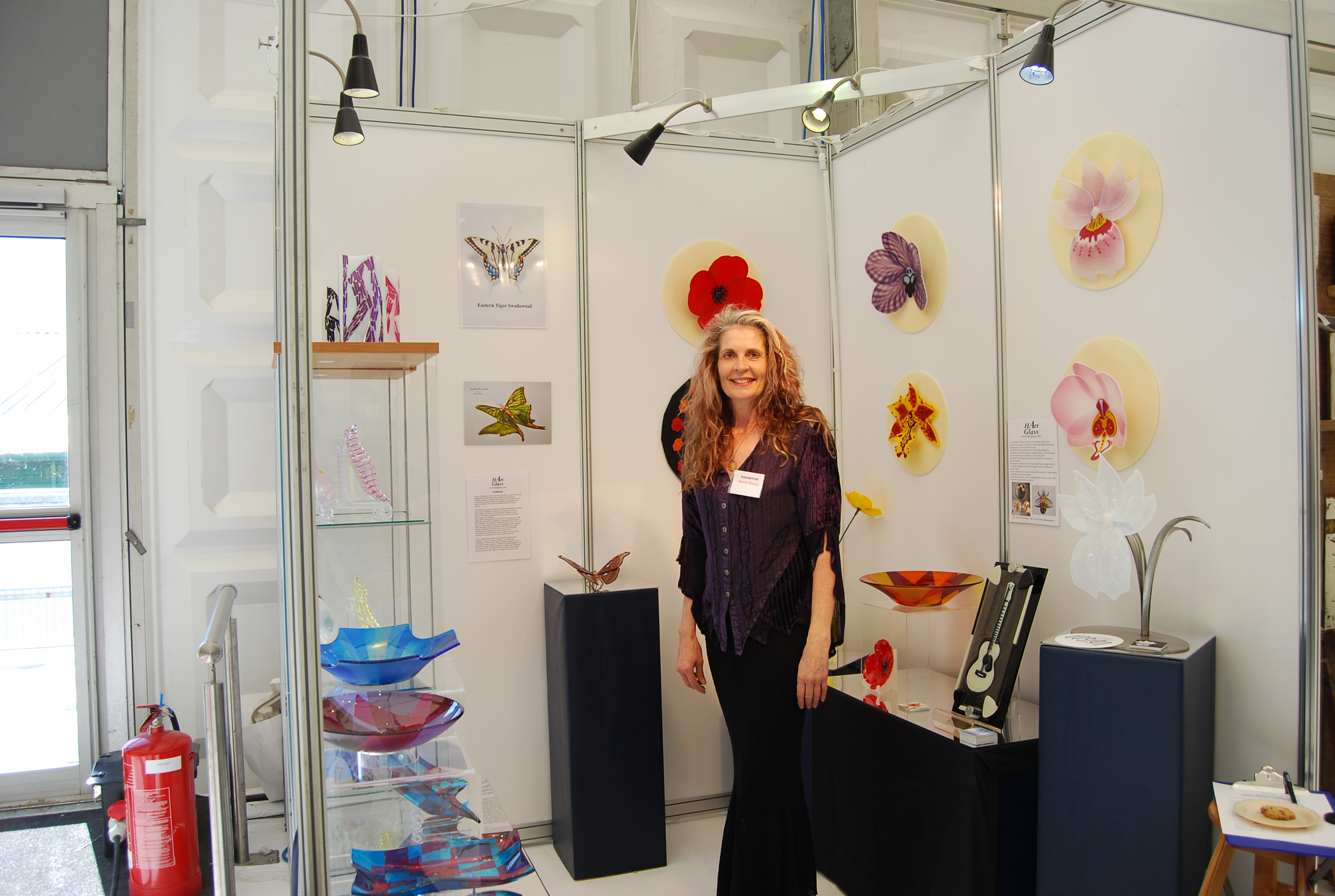 The Best of Glass Sculpture and Fusing Art: Laura Hart glass sculpture The Best of Glass Sculpture and Fusing Art: Laura Hart Laura at BCTF 2016