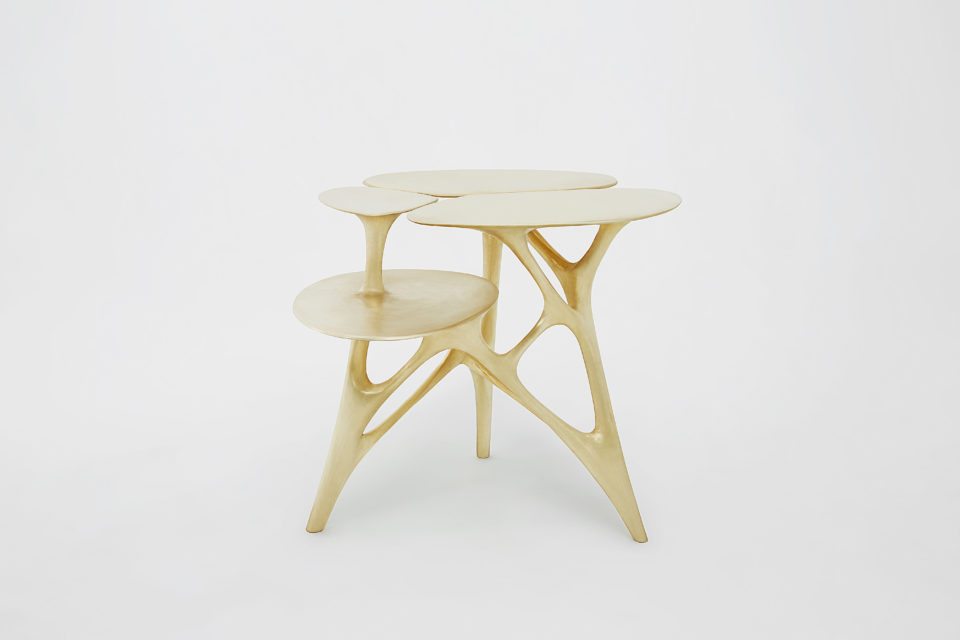 Best of Contemporary Art at Design Miami 2018 - Lotus-Side-Table - Zhipeng-Tan gallery all Best of Contemporary Art at Design Miami/ 2018: Gallery ALL Best of Contemporary Art at Design Miami 2018 Lotus Side Table Zhipeng Tan