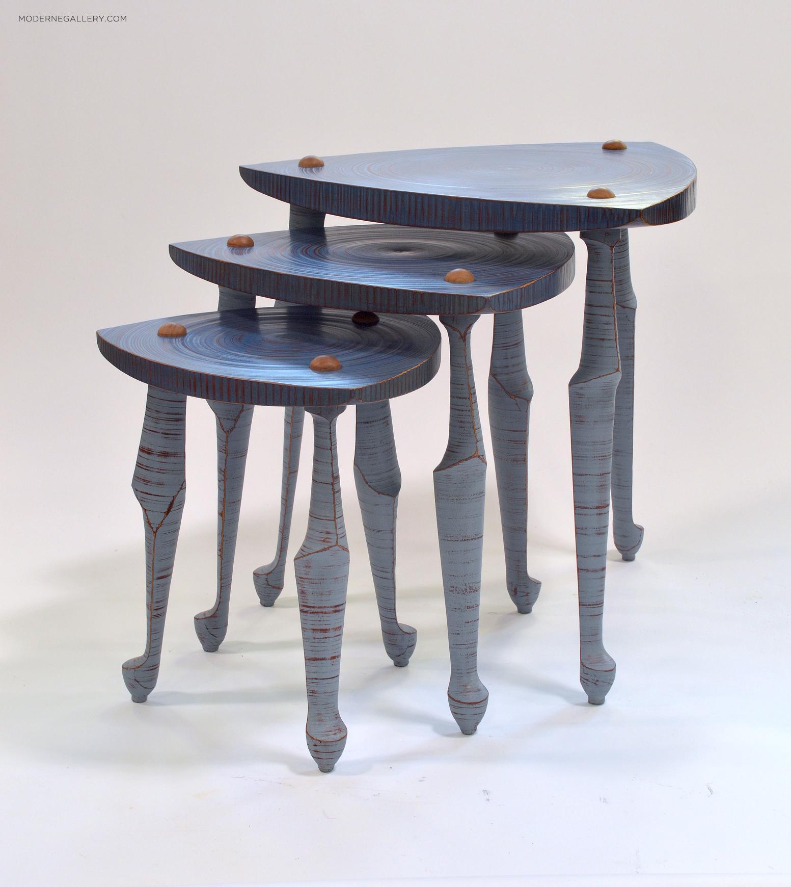Best of Contemporary Art at Design Miami 2018 - Modern - Meta Nesting Tables - John Conver Lutz moderne gallery Best of Collectible Design at Design Miami/ 2018: Moderne Gallery Best of Contemporary Art at Design Miami 2018 Modern Meta Nesting Tables John Cover Lutz