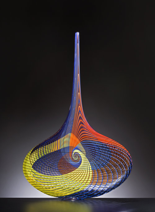 Contemporary glass Designs in The Salon Art+Design NY 2018 heller gallery New Heller Gallery 's Collectible Designs The Salon Art+Design NY 2018 HellerGallery Angel Tear Tagliapietra Lino