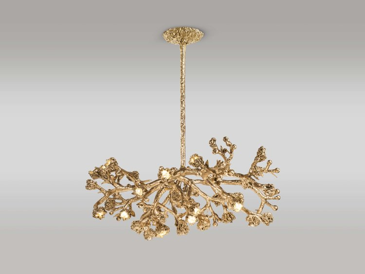 world-renowned contemporary international Artists, Architects and Designers at the salon art+design ny 2018 david gill gallery New David Gill Gallery's Collectible Designs The Salon Art+Design NY Michele Oka Doner Chandelier Water Flowers2018 1