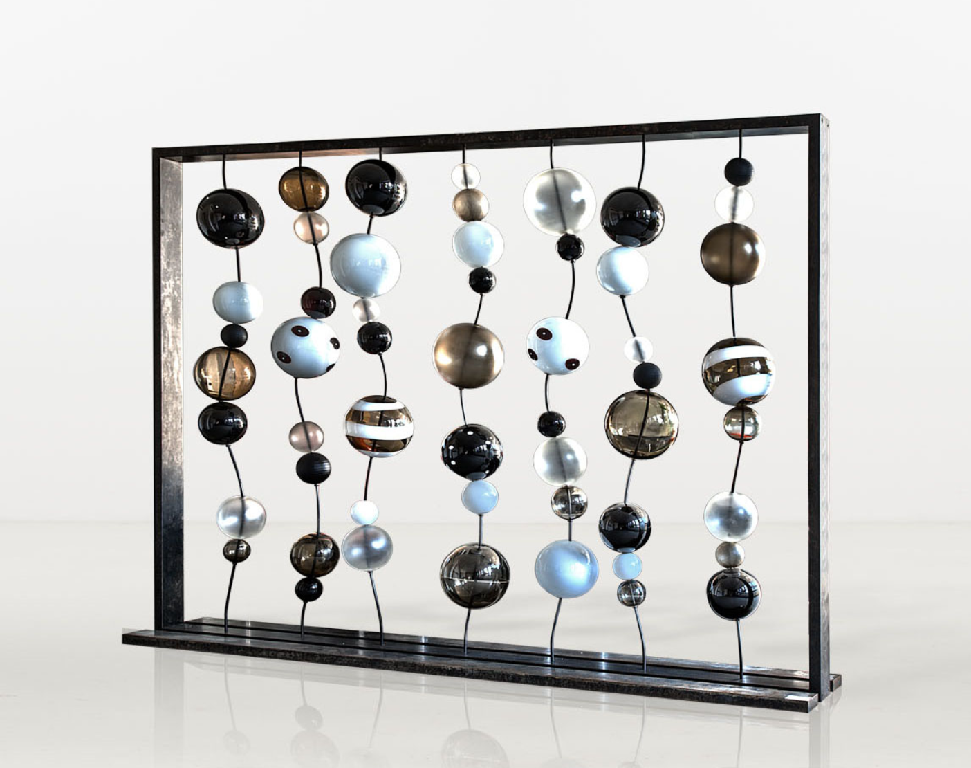 glass sculpture The Best of Glass Sculpture Art: Monica Guggisberg and Philip Baldwin Monica Guggisberg and Philip Baldwin Circo di Lune 2003 Glass and Metal Limited Edition
