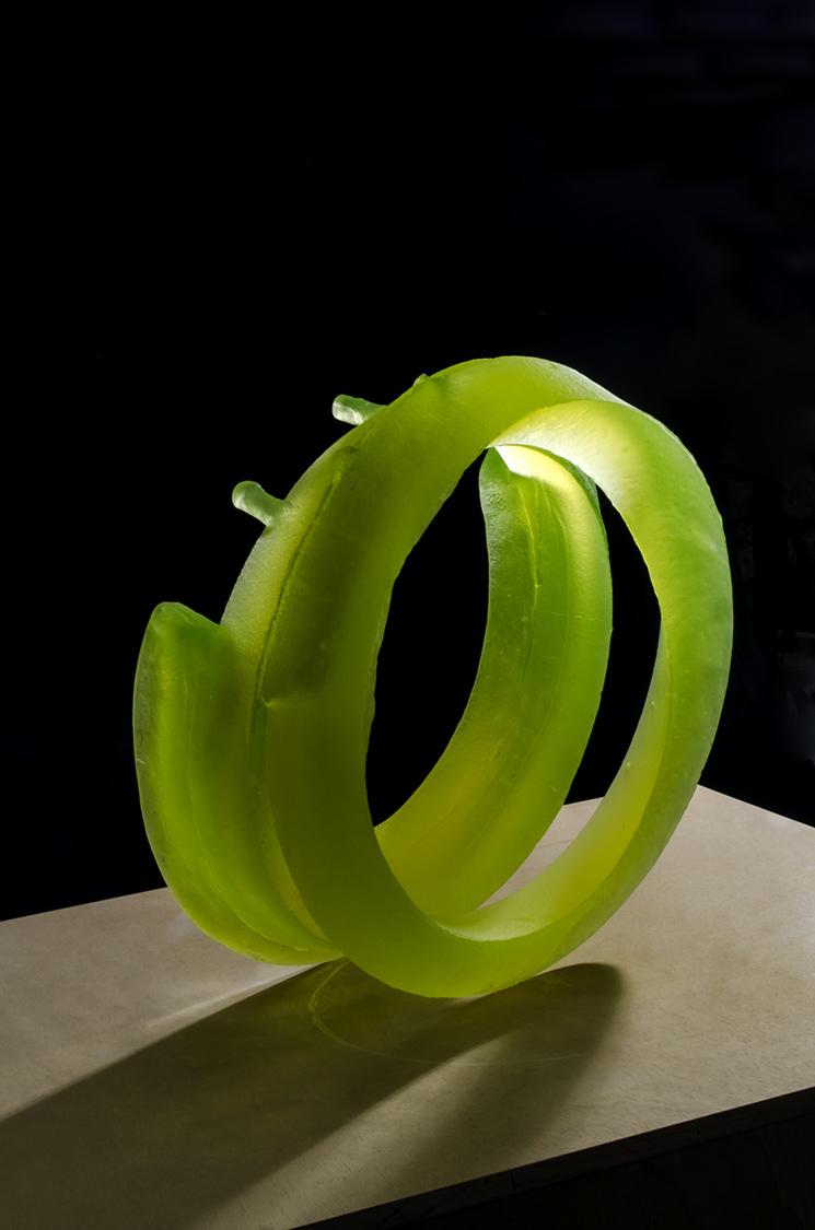 The Best of Glass Art - Štepán Pala - Yellow Infinity glass sculpture The Best of Glass Sculpture Art: Štepán Pala The Best of Glass Art   tep  n Pala Yellow Infinity