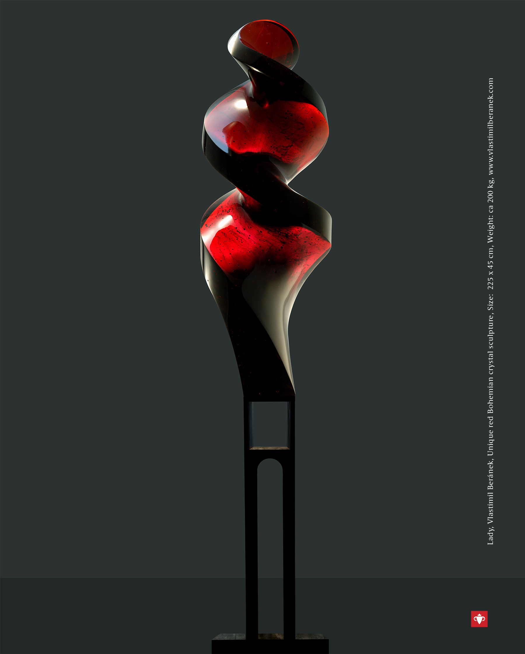 The Best of Glass Sculpture Art: Vlastimil Beránek glass sculpture The Best of Glass Sculpture Art: Vlastimil Beránek Vlastimil Beranek Lady Red