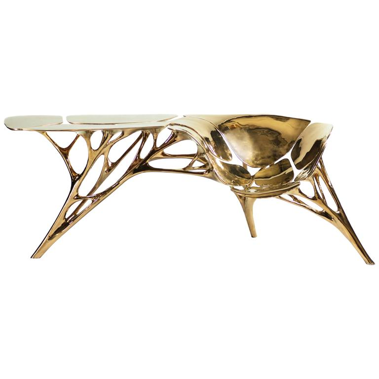 Creative and Contemporary Collectible Designs by Zhipeng Tan - Lotus Console Table with Seat Zhipeng Tan Creative and Contemporary Collectible Designs by Zhipeng Tan Creative and Contemporary Collectible Designs by Zhipeng Tan Lotus Console Table with Seat
