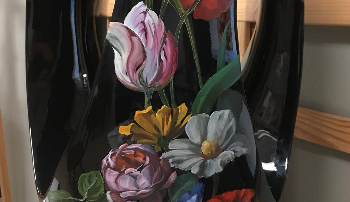 Delicate Hand Painted Stools by Project CULTURE - Maison et Objet 2019