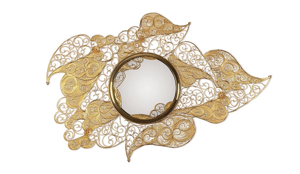 Filigree Mirror by Boca do Lobo boca do lobo Elegant Craftsmanship by Boca do Lobo at Maison et Objet 2019 Filigree Mirror Boca do Lobo Maison et Objet