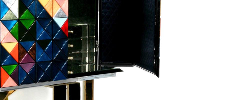 Pixel Cabinet by Boca do Lobo boca do lobo Elegant Craftsmanship by Boca do Lobo at Maison et Objet 2019 Pixel Cabinet details BL
