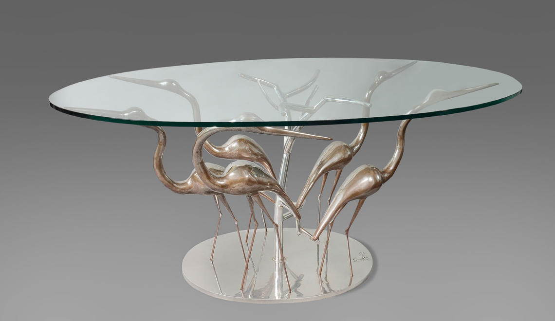 The Best of Modern Sculpture at PAD 2019 René Broissand - Table aux Hérons -