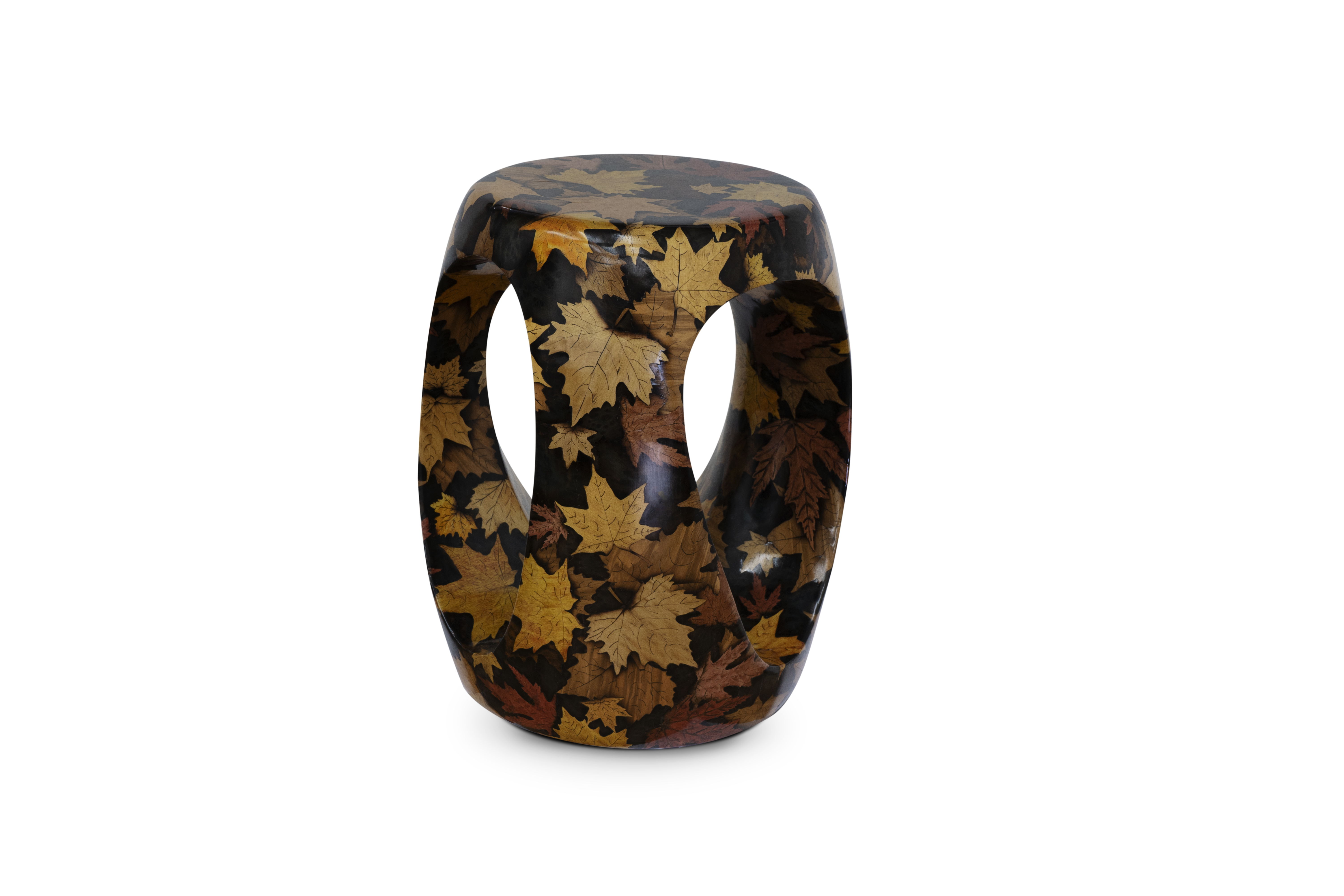 ArtsTool stool marquetry artstool collection ARTsTOOL Collection – Craftsmanship Masterpieces by Project CULTURE Autumm wood carving Artstool collection
