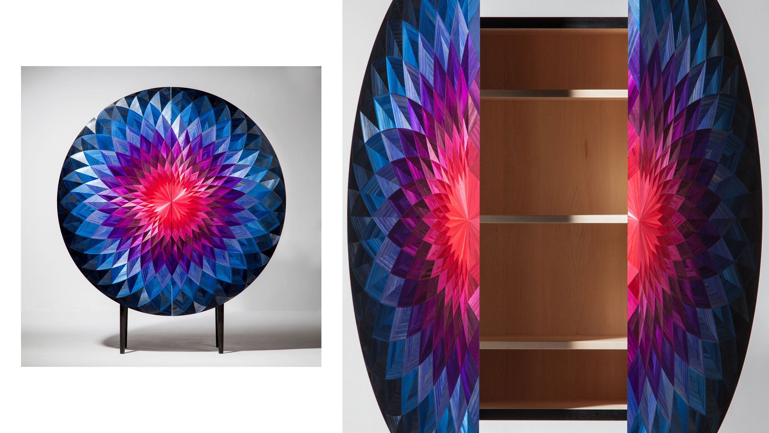 Do You Want to be in the Spotlight at Milan Design 2019 - The Bloom Cabinet by industrial designer Adam Goodrum and marquetry artisan Arthur Seigneur milan design week Do You Want to be in the Spotlight at Milan Design Week 2019? Do You Want to be in the Spotlight at Milan Design 2019 The Bloom Cabinet by industrial designer Adam Goodrum and marquetry artisan Arthur Seigneur