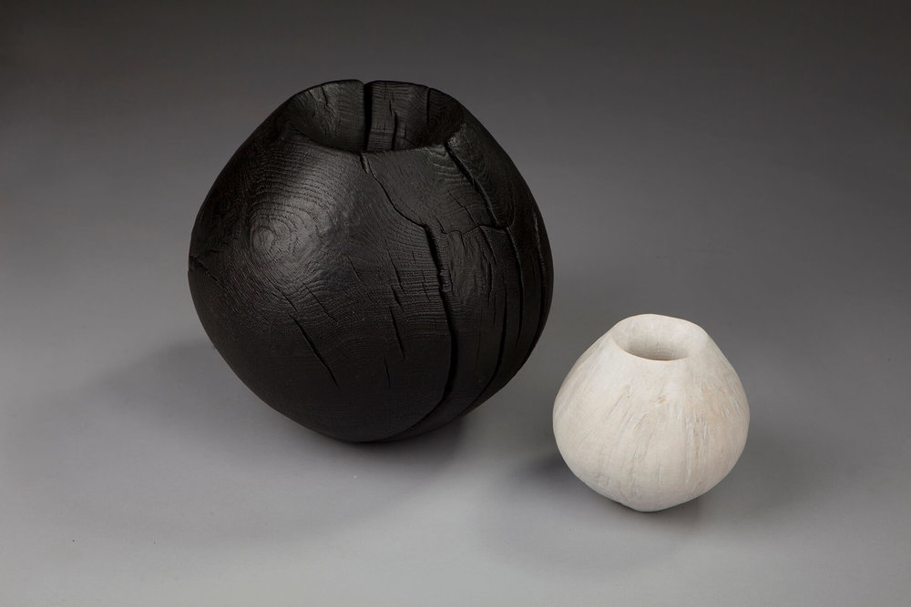 Talented Wood Work Master Artisans Jim Partridge and Liz Walmsley -Scorched Sphere and Bleached Sphere Woodworking Talented Woodworking Master Artisans: Jim Partridge and Liz Walmsley Talented Wood Work Master Artisans Jim Partridge and Liz Walmsley Scorched Sphere and Bleached Sphere