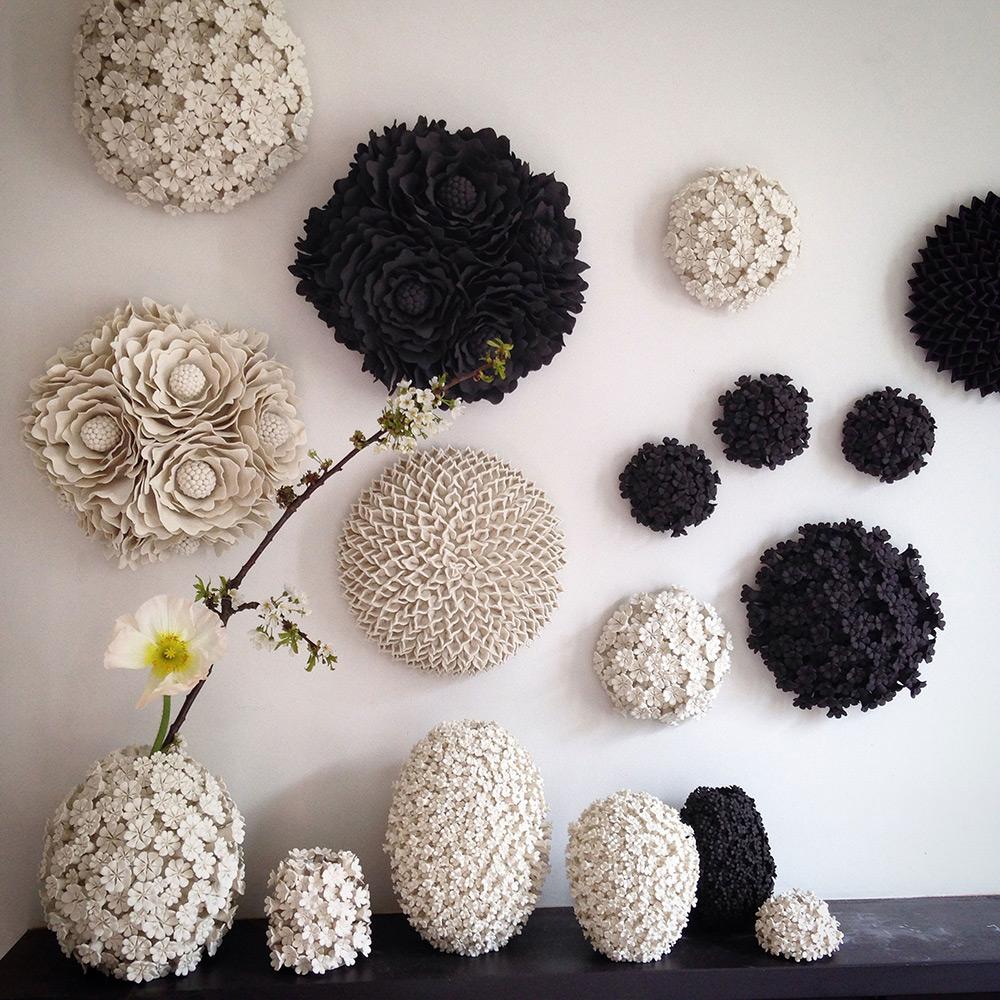 Ceramic Art Floral Masterpieces by the Artisan Vanessa Hogge - Interior Design ceramic art Ceramic Art: Floral Masterpieces by the Artisan Vanessa Hogge Ceramic Art Floral Masterpieces by the Artisan Vanessa Hogge