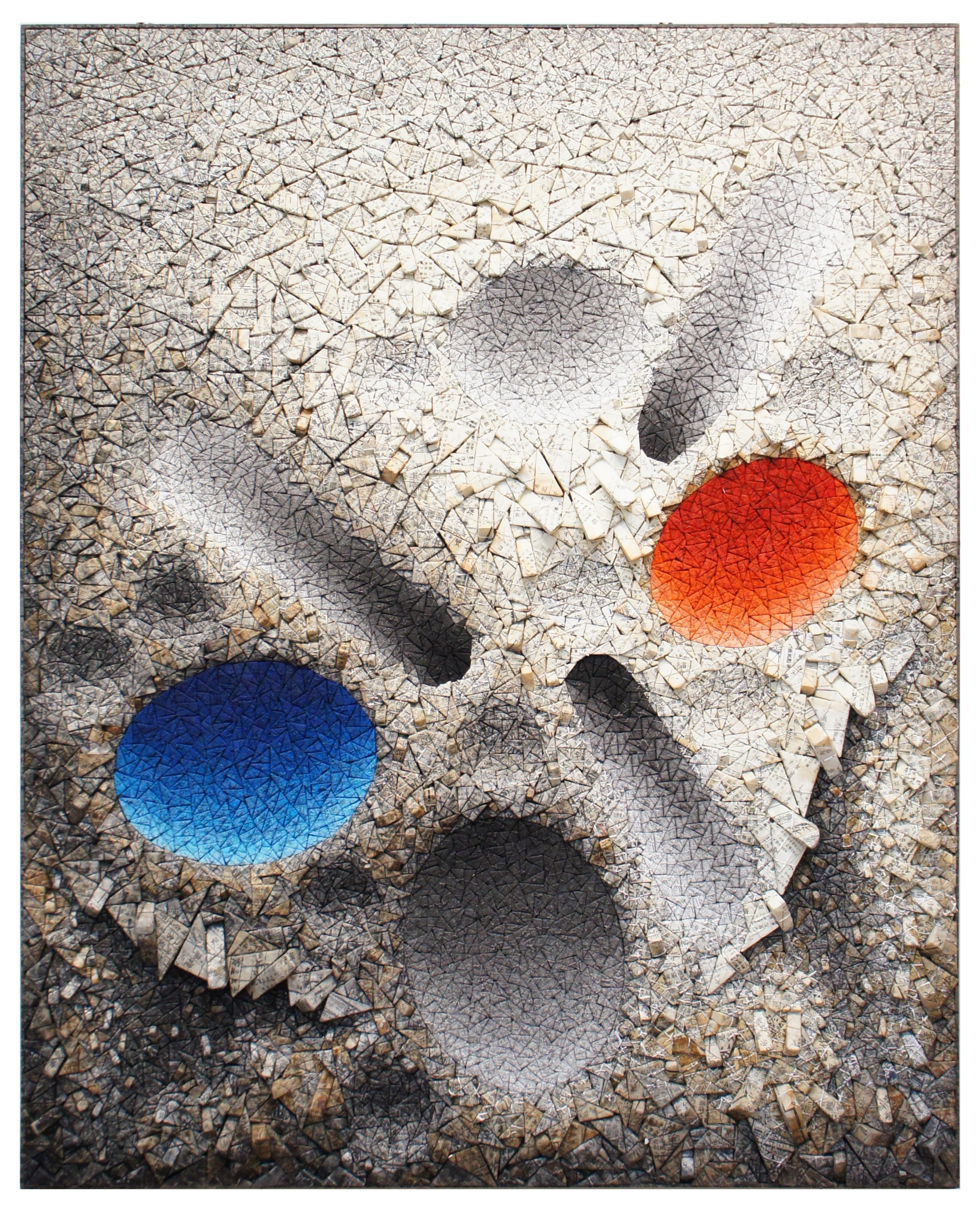 Are You Ready for Art Basel Hong Kong 2019? art basel hong kong 2019 Are You Ready for Art Basel Hong Kong 2019? Chun Kwang Young Aggregation08 D075Blue and Red 2008 PKM Gallery