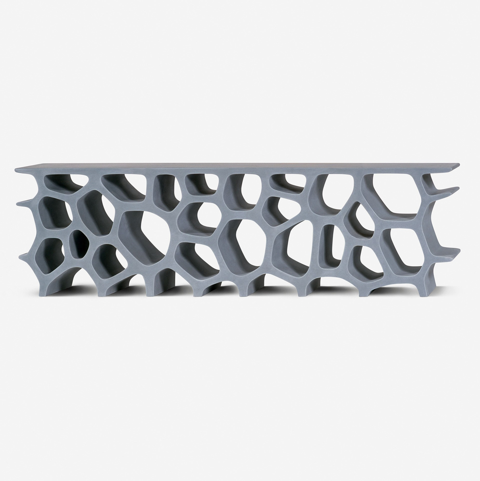 Marc Newson - One of the Best Contemporary Designers in the World - Low Voronoi Shelf marc newson Marc Newson: One of the Best Contemporary Designers in the World Marc Newson One of the Best Contemporary Designers in the World Low Voronoi Shelf
