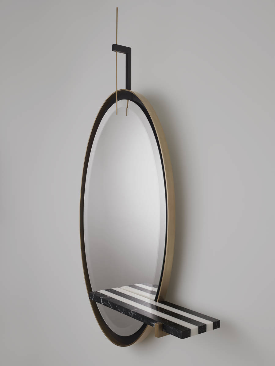 PAD Paris 2019 - Isabelle Stanislas Exquisite Designs in Galerie BSL - Ellipse Mirror Striped pad paris PAD Paris 2019: Isabelle Stanislas' Exquisite Designs in Galerie BSL PAD Paris 2019 Isabelle Stanislas Exquisite Designs in Galerie BSL Ellipse Mirror Striped