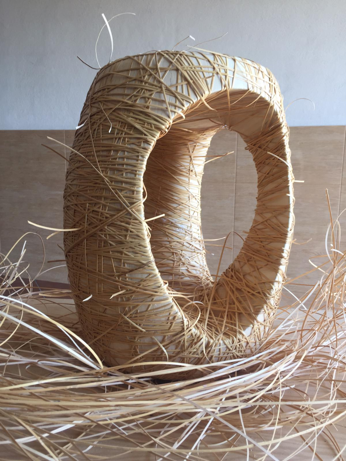 mabela Mabela, the Crafts and Arts Natural Straw Fist days Mabela stool creation