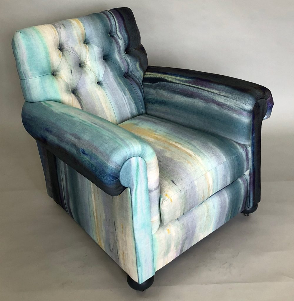 London Craft Week 2019 Upholstery Secrets by Shoreditch Design Rooms - Blue Chair - Painting london craft week London Craft Week 2019: Upholstery Secrets by Shoreditch Design Rooms London Craft Week 2019 Upholstery Secrets by Shoreditch Design Rooms Blue Chair Painting